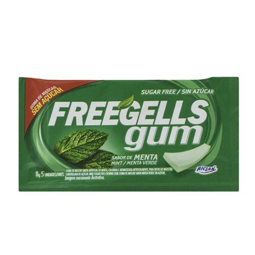Chiclete Freegells Gum Menta Sem Açúcar com 8g