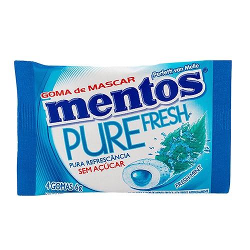 Chiclete Mentos Pure Fresh Menta Sem Açúcar 4 Unidades
