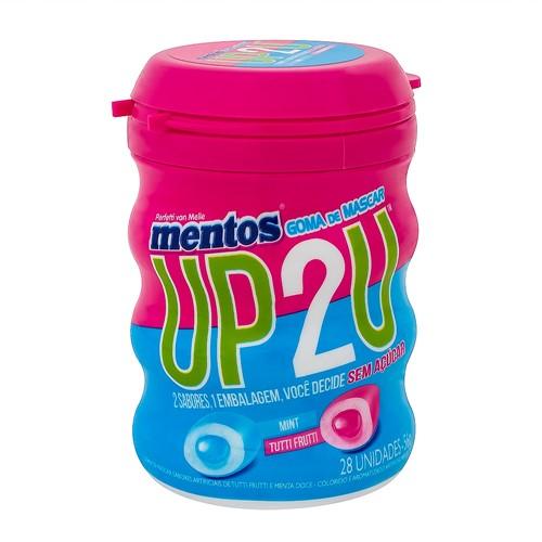 Chiclete Mentos UP2U Sabor Tutti Frutti Sweet Mint Sem Açúcar 56g com 28 Unidades