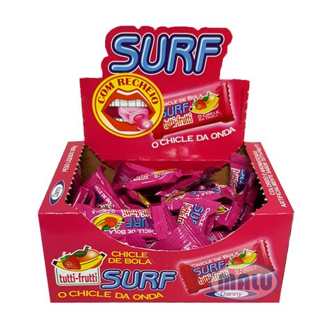 Chiclete Recheado Surf Tutti Frutti C/50 - Danny