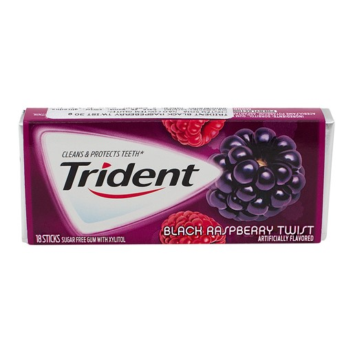 Chiclete Trident Black Raspberry Twist 30g com 18 Unidades
