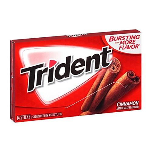 Chiclete Trident Cinnamon 26g com 14 Unidades