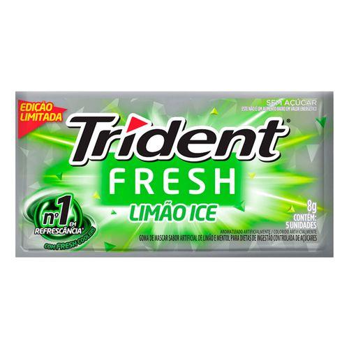 Chiclete Trident Fresh Limão Ice 8g