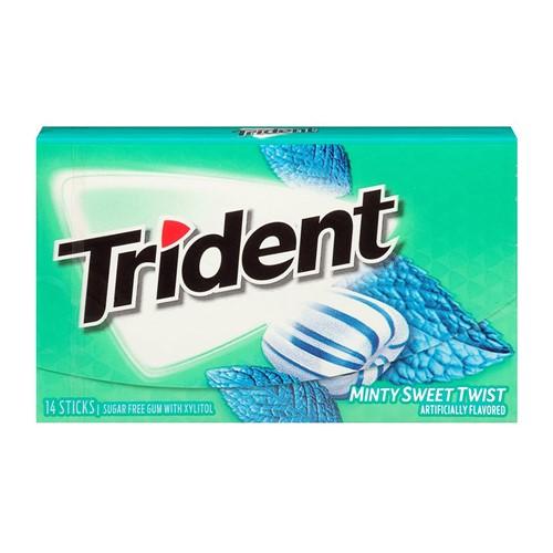 Chiclete Trident Minty Sweet Twist 26g com 14 Unidades