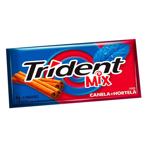 Chiclete Trident Mix Canela e Hortelã 8g 5 Unidades