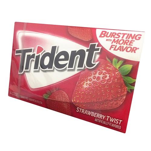 Chiclete Trident Strawberry Twist 26g com 14 Unidades