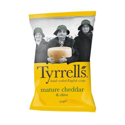 Chips de Batata Queijo Cheddar - Tyrrells - 150g