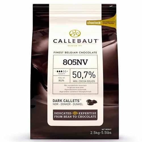 Chocolate Amargo em Gotas Callebaut Nº 805 50,7% Cacau 2,5kg