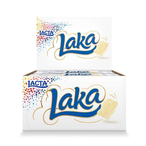 Chocolate Branco Laka 20g C/20 - Lacta