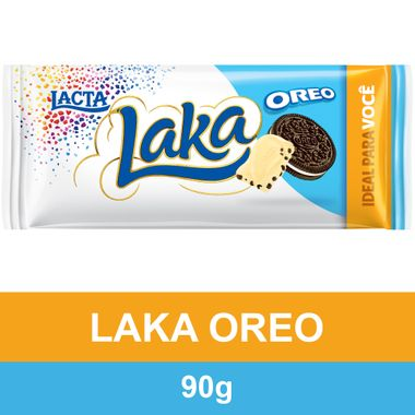 Chocolate Branco Laka com Oreo Lacta 90g Dp. C/ 17 Un.