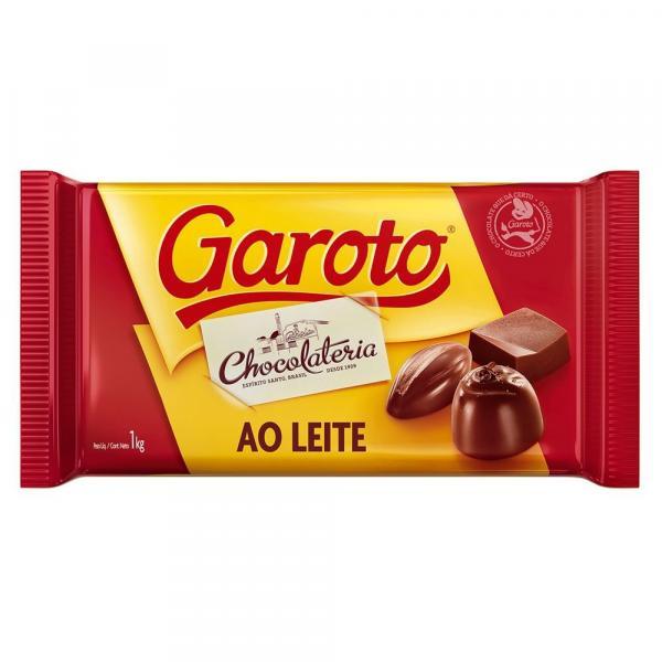 Chocolate em Barra ao Leite 1kg - Garoto Un