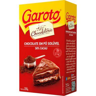 Chocolate em Pó Garoto 200g Cx. C/ 20 Un.
