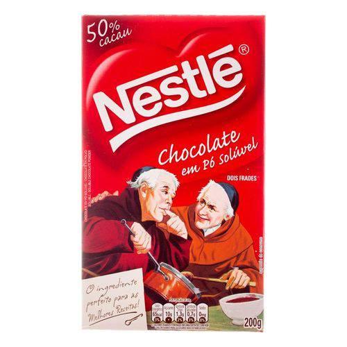 Chocolate em Pó Nestlé Solúvel 50% Cacau Dois Frades 200g