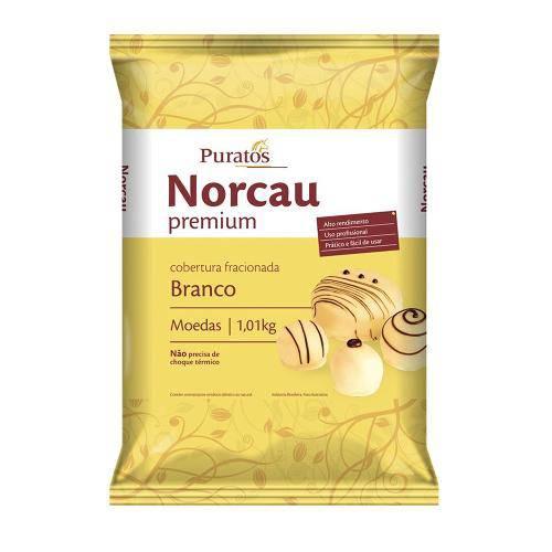 Chocolate Fracionado Cobertura Gotas Branco 1,01kg - Norcau Premium