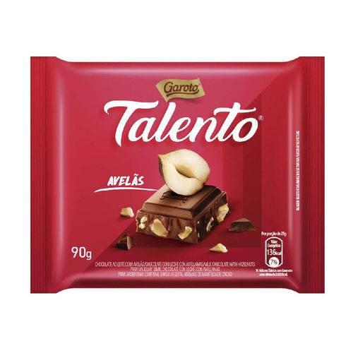 Chocolate Garoto Talento ao Leite com Avelas 90g