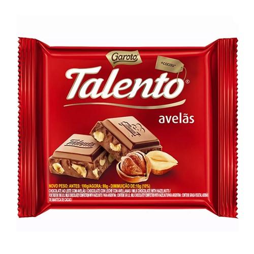 Chocolate Garoto Talento Avelãs 90g