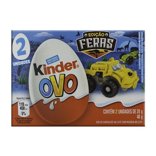 Chocolate Kinder Ovo Meninos com 2 Unidades de 20g Cada