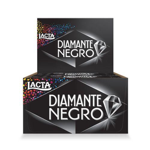 Chocolate Lacta Diamante Negro Tablete 20g Display com 20 Unidades Chocolate Lacta Diamante Negro Tablete 20 G Display com 20 Unidades