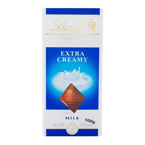 Chocolate Lindt Excellence Extra Creamy Milk com 100g