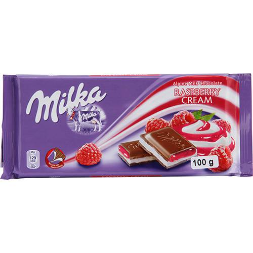Chocolate Milka Raspberry Filling 100g