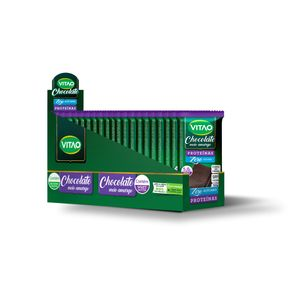 Chocolate Proteico Meio Amargo Zero Açúcares com Proteína Animal 18 Unidades de 30g