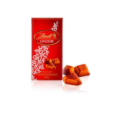 Chocolate Suíço Lindt Barra ao Leite - Lindor Milk - 100g