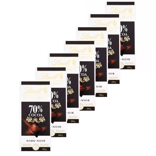 Chocolate Suíço Lindt Excellence 70% Cacau - 7 Unidades