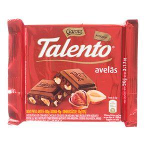Chocolate Talento Avelã Garoto 90g