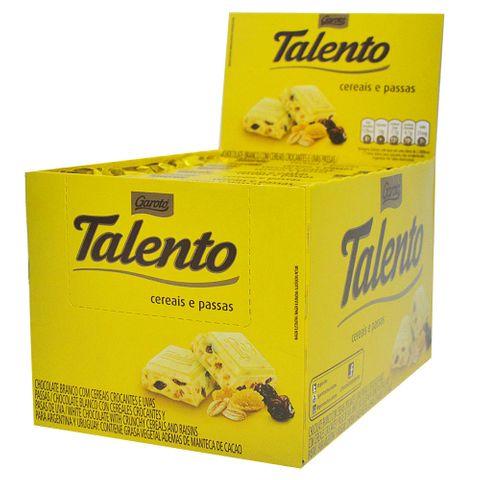 Chocolate Talento Branco Passas 12X90g - Garoto
