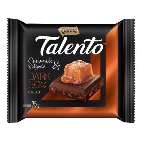 Chocolate Talento Dark Caramelo e Sal 75g C/15 - Garoto