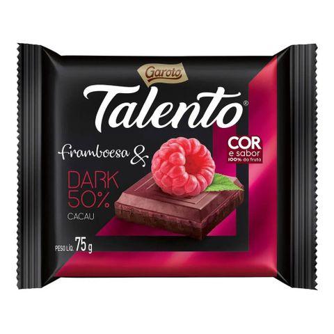 Chocolate Garoto Talento Dark Framboesa 75g
