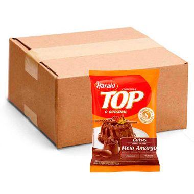 Cobertura Chocolate Harald Top Gotas Meio Amargo 1,050Kg Cx. C/ 10 Un.
