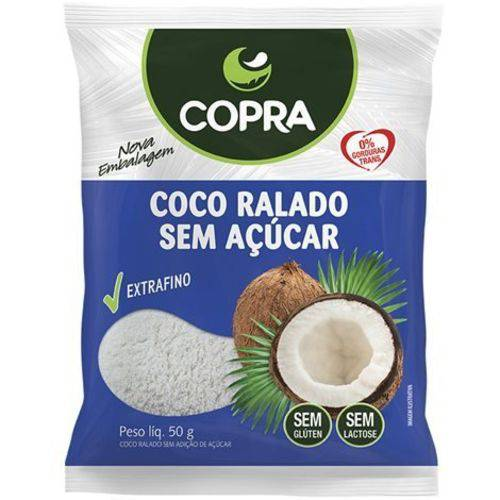 Coco Ralado Fino Sem Açúcar 50g Copra