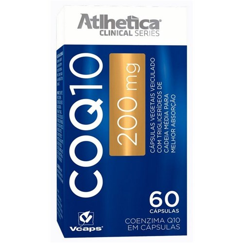 Coenzima Q10 200Mg - 60 Cápsulas - Atlhetica