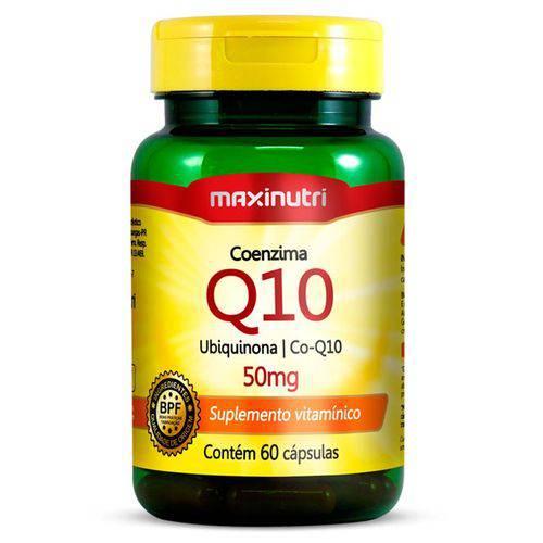 Coenzima Q10 - Ubiquinona - 50mg com 60 Cápsulas - Maxinutri