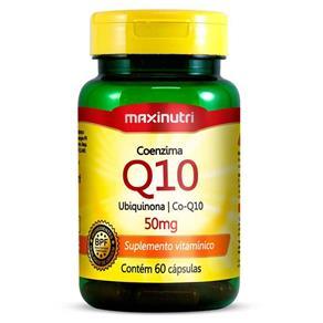 Coenzima Q10 Ubiquinona 50mg com 60 Cápsulas - Maxinutri