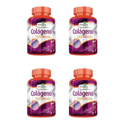 Colágeno Hidrolisado com Vitamina C - 4x 120 Cápsulas