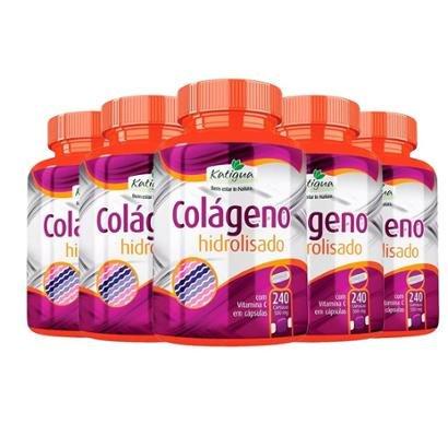 Colágeno Hidrolisado com Vitamina C - 5x 240 Cápsulas - Katigua