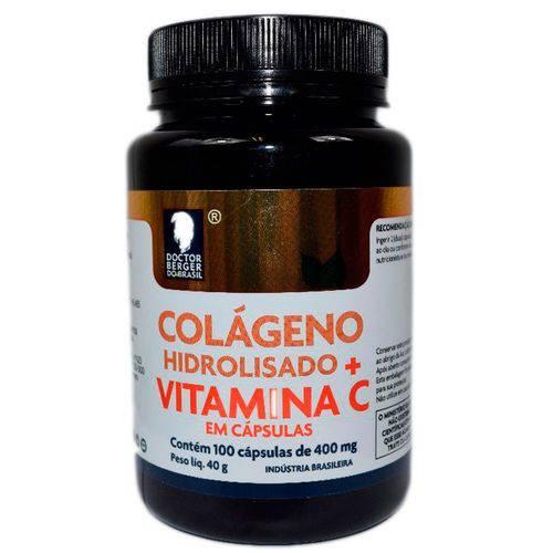 Colágeno Hidrolisado + Vitamina C 400mg - 100 Cápsulas