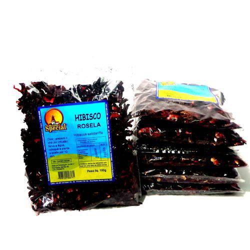 Combo 6 Chás Hibiscus Rosela 600gr Queimador Barriga Ms