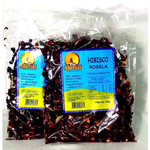 Combo 2 Chás Hibiscus Rosela 200gr Queimador Barriga Ms