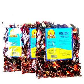 Combo 3 Chás Hibiscus Rosela 300Gr Queimador Barriga MS