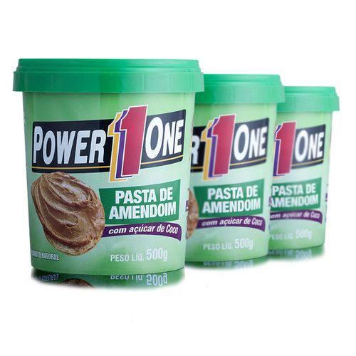 Combo 3 Pastas de Amendoim com Açúcar de Coco 500g Cada - Power One