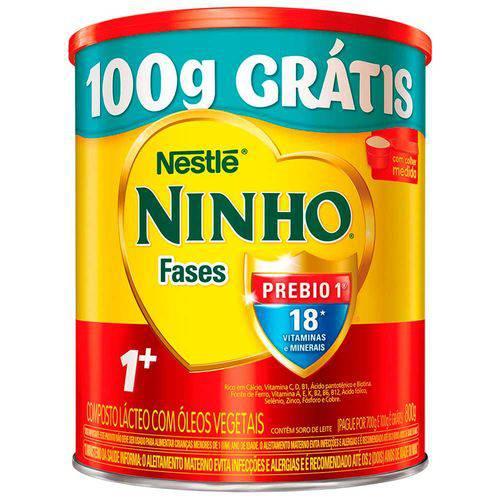 Composto Lácteo Nestlé Ninho Fases 1+ Leve 800 Pague 700g