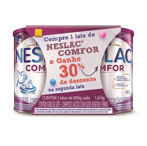 Composto Lacteoneslac 800g Comfor 30%Desconto Segunda Lata
