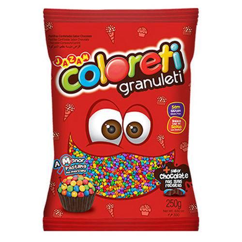 Confeito Coloreti Granuleti 250g - Jazam