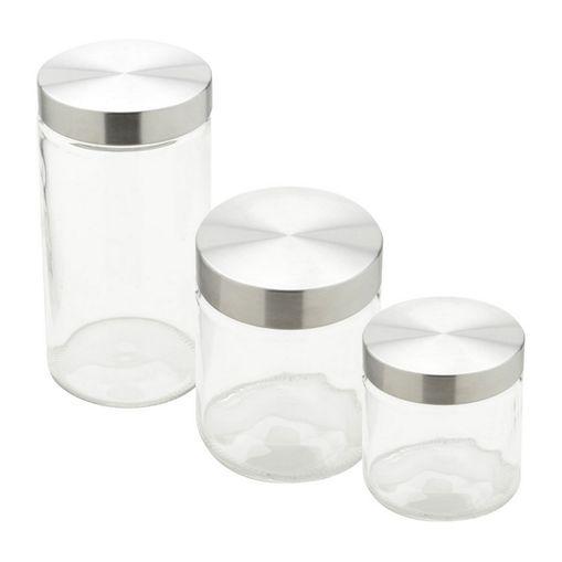 Conjunto de Porta Mantimentos de Vidro 3 Peças Ally Bon Gourmet