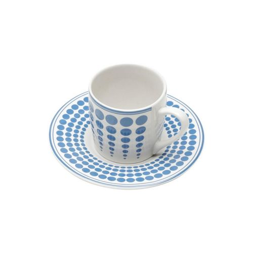 Conjunto de Xícaras para Café Porcelana Azul Bon Gourmet