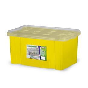 Container 16 Litros Amarelo com Tampa Natural