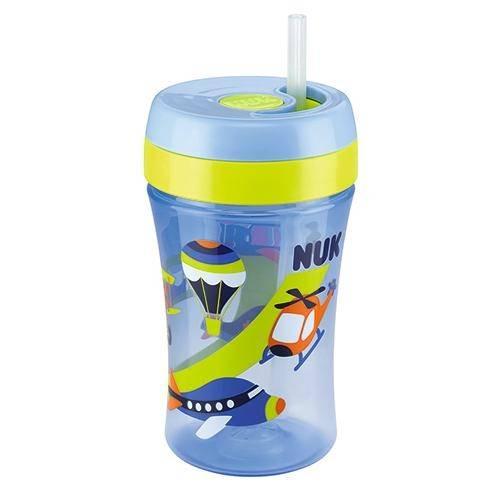 Copo Fun Cup Azul 18 Meses + Canudo de Reposição Nuk